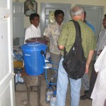 Sawyer's filter in school used as camp for flood victims  Mauripur Karachi